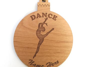 Personalized Wood Dance Ornament