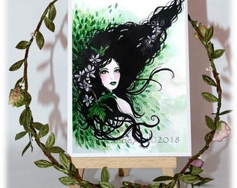 Blank Greeting Card, Green Woodland Card, Birthday Card, Fairy Birthday Card, Woodland Card, Cards for her, Fairy Greeting Card, Fairy Card