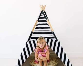 all black and white striped Tnee's teepee