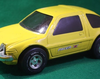 Scarce 1970's  pressed steel Tonka AMC  yellow Pacer X Made in Japan