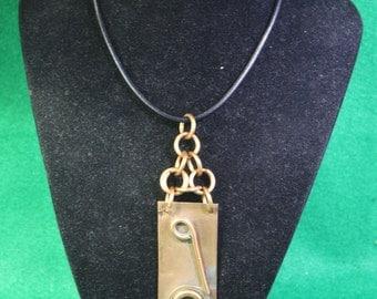"Handmade Copper / Brass  Pendant Necklace - ""Picasso"""