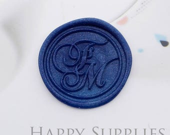 1pcs Personalized Initial Alphabet Gold Plated Wax Seal Stamp (WS451) / Custom Monogram Calligraphy Wedding Invitation Sealing Wax Stamp