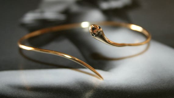 Snake bracelet sterling silver, snake cuff fashion bracelet, silver 925