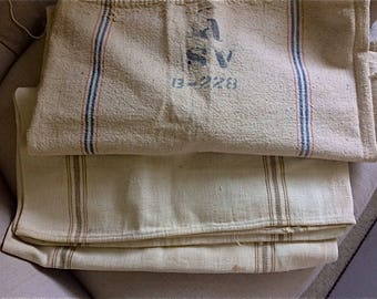 Vintage Grain Sack Pair