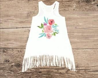 Boho Toddler Dress, Flower Baby Clothes
