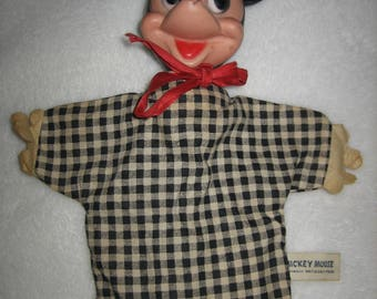 Vintage Mickey Mouse gund hand puppet toy