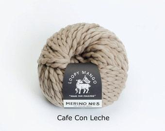 Loopy Mango - Merino No. 5 - Cafe con Leche