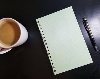 Green Geometric Wirebound A5 Notebook - Wire Bound Journal Wire Bound Notebook Contact Book Art Journal Bullet Journal