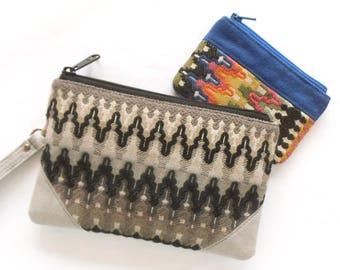 Wristlet Purse - Wristlet Clutch - Small Wristlet - Fabric Wristlet - Wristlet Vegan - Tribal Wristlet - Wristlet Handbag - Canvas Wristlet