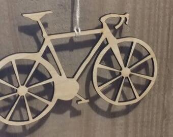 Wood Bicycle Ornament, bike ornament, bike parts,  bike, bicycle, bike gift, cyclist gift, road bike ornament, biking, customized