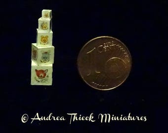 Miniature Stack of Cubes - 1:12 scale