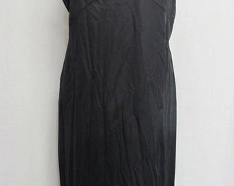 Mad Men Black Slip 1960s Slip Pin up Slip Goth Slip Plus Size