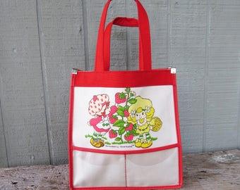 Vintage Strawberry Shortcake Tote/Bag 1982