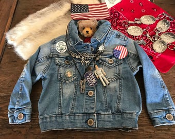 Denim Jacket Stonewashed Baby Jean Jacket