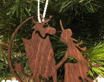 12 Days of Christmas Eight Maids a-Milking Wooden Ornament