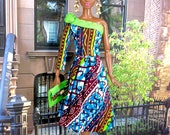 ON RESERVE for SJ- Barbie Doll Skirt Suit - African Print Skirt Suit, Head-wrap, Earrings, Purse, and Shoes