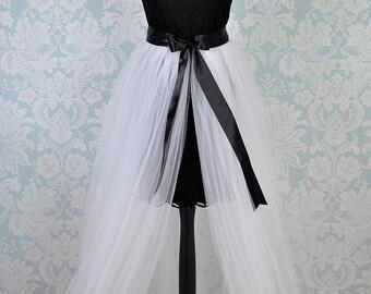 Detachable Tulle Skirt, Bridal Overskirt, Detachable Tutu, Bridal Train, Adult Tutu Skirt, White Tulle Skirt, Tulle Train, Wedding Tutu