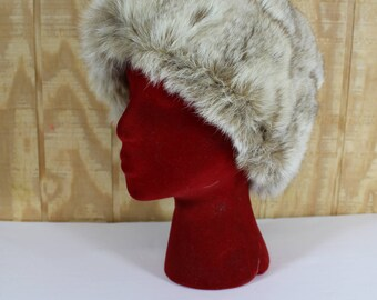 Vintage 1960's BETMAR Brown Cross Mink Cloche Bucket Winter Hat