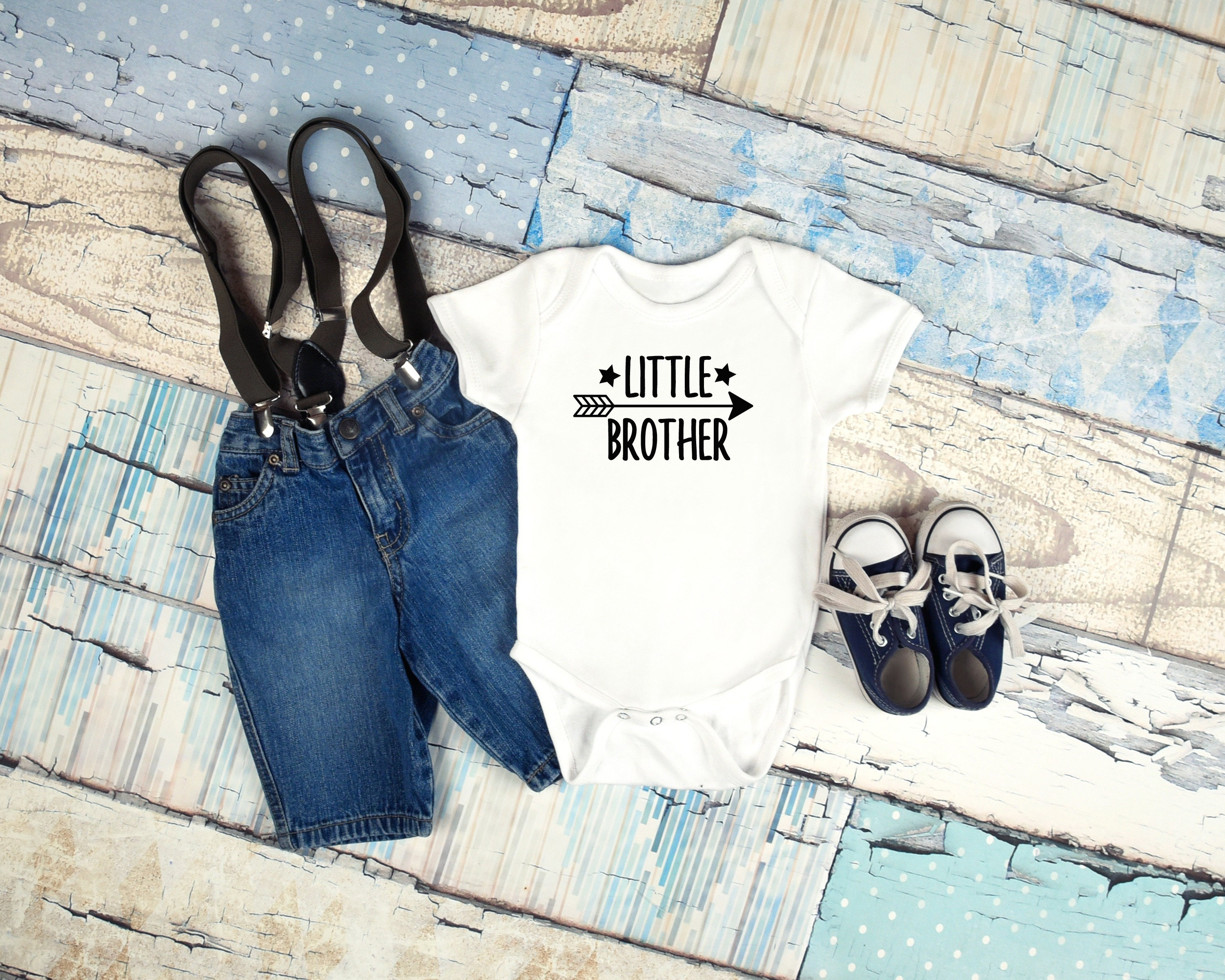 Little brother graphic baby clothing for newborn 6 months 12