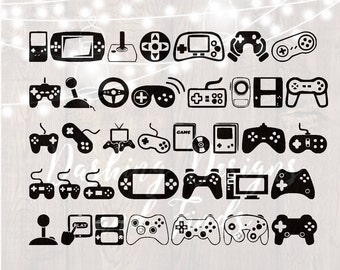 DIGITAL DOWNLOAD svg png video game gaming gamer car decal yeti decal nintendo xbox minecraft gameboy HTV shirt sign cricut cutting file