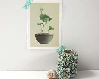Postcard Lotus | Zen Moment | 105 mm x 148 mm