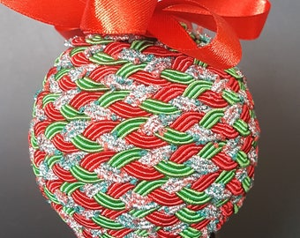 Red and Green Braid Ornament