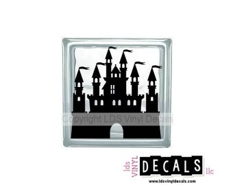 Castle - Kids Vinyl Lettering for Glass Blocks - Princess and Fairy Tale Craft Decals