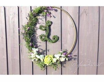 Floral Wreath - Wreath, Large Floral Wreath, Wedding Wreath, Wedding Decor, Baby Shower Decor, Home Decor, Summer Wreath, Rustic  Decor