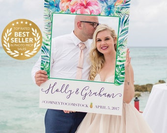 Wedding Photo Prop - Bridal Shower Photo Prop - Tropical Photo Prop - DIGITAL FILE - Baby Shower Photo Prop - Printed Option Available