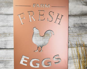 Metal Sign, Farm Fresh Eggs, Signs with quotes, Farm sign, Signs for home, Farmhouse Decor, Farmhouse sign,