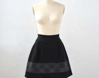 Women skirt above the knee skirt jersey skirt comfortable contrasted fabric striped - Jupe PARAPLUIE monkeys