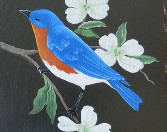"Our ""Bluebird on Dogwood"" Slate"