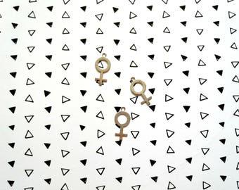 Large Venus Symbol Charm, Feminist Accessories, Venus Symbol, Venus Symbol Charm, Feminist Symbol, Feminist, Feminism, Feminist Charm