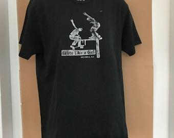 """Vintage """"Skate Like a Girl"""" Olympia, WA T-shirt"""