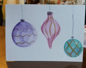 SOLD-Holiday Ornament Greeting Card