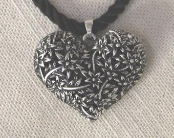 Floral Filigree Heart