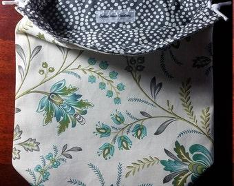 Spring has sprung | Reversible Drawstring Bag