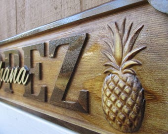 Custom Decor Signs Hawaiian Ohana Wedding Gifts Personalized Family Name Signs Hawaii Pineapple 50th Anniversary Gifts Established Date Sign