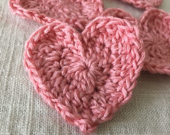 Crochet Valentine's Hearts
