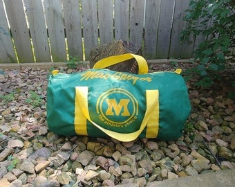 Mac Gregor The Athletes Choice Green and Yellow Gym Sports Duffle Bag
