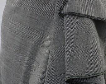 Grey Glen Plaid Wrap Skirt