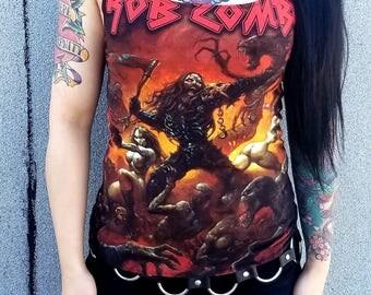 VAGABOND KREATIONS Rob Zombie Tank Top DIY Spandex Heavy Metal Rocker
