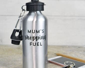 Shopping water bottle, personalised shopping water bottle, gift for Mum, sister or friend