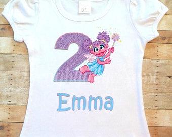 Abby Cadabby Birthday Shirt, Birthday Shirt, Personalized Shirt, Personalized Birthday Shirt, Abby Cadabby, Girls Birthday Shirt