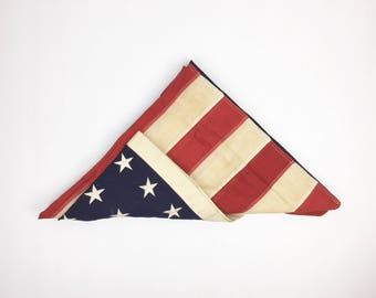 Vintage American Flag 48 Star 5 by 3' Vintage American Flag 48 Star Flag Old Cotton Flag 5 foot by 3 foot Flag Vintage Worn 48 Star Flag