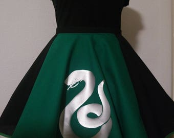Sly snake wizard skirt / circle skirt / wizard cosplay costume / silver snake