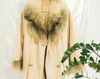 Vintage Faux Fur Winter Coat