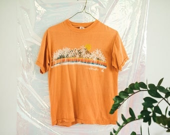 Vintage Orange Hawii Skyline T-shirt