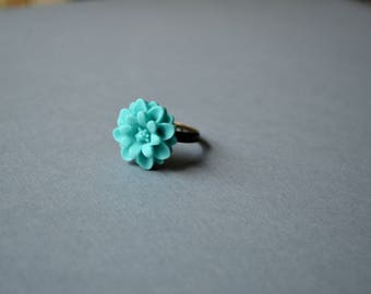 Turquoise Bohemian Adjustable Ring. Jewelry. Rings. Gypsy Ring. Victorian Ring. Handmade Jewelry. Ring Under 10 Dollar. Floral Ring. Boho.