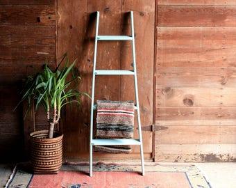 Vintage Ladder, Wood Ladder, Blanket Ladder Rack, Ladder Shelf, Wooden Ladder, Quilt Ladder, Rustic Ladder, Towel Ladder, Library Ladder
